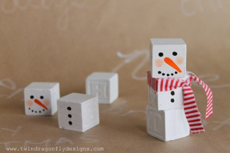 Snowman Block Craft
