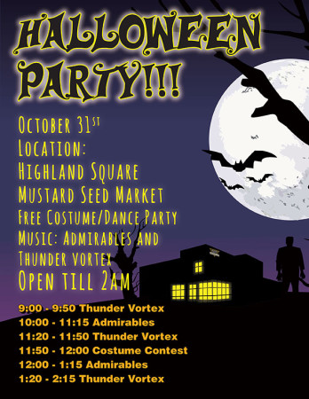 Halloween Party at Mustard Seed HSQ