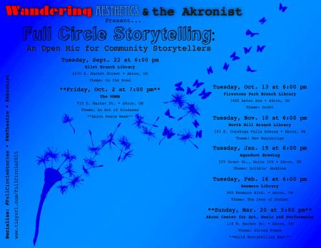 Full Circle Storytelling: An Open Mic for Community Storytellers (Drinkin' Buddies)