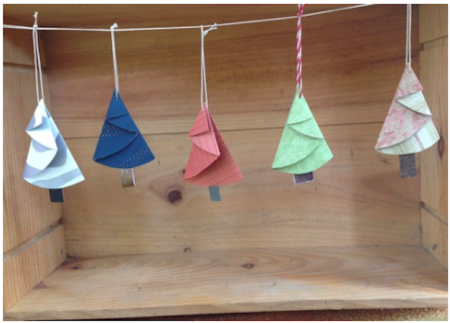 7th Annual Crafty Mart Workshops: Repurposed Paper Christmas Tree Ornaments