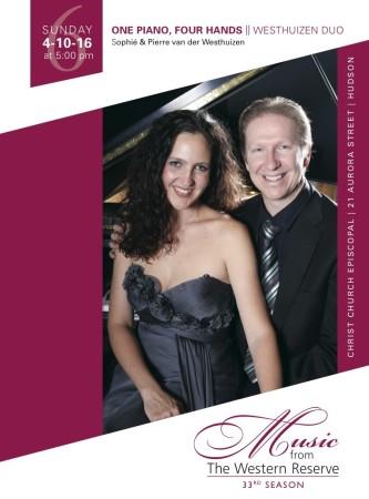 One Piano, Four Hands: Westhuizen Duo