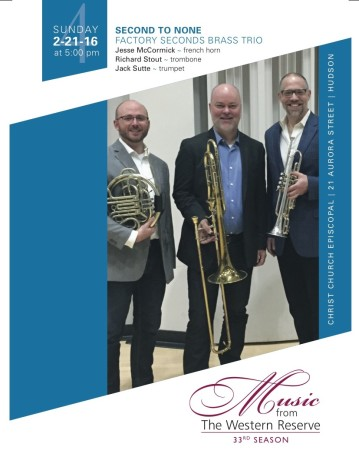 Second to None: Factory Seconds Brass Trio