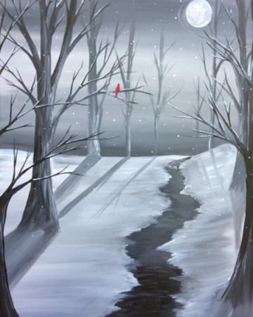 Exercise your Creative Spirit - Snowy Night