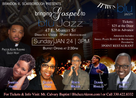 Brandon R. Scarborough Presents... Bringing Gospel to BLU Jazz+