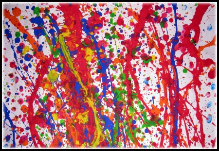 Jackson Pollock Painting at Summit Artspace