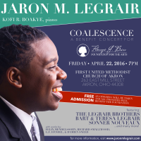 Coalescence: Jaron M. LeGrair Concert to Benefit The Flossye J. Bass Foundation for the Arts