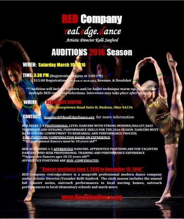"""AUDITIONS FOR DANCERS – """"THE NATURAL BEING"""" 2016 Season"""