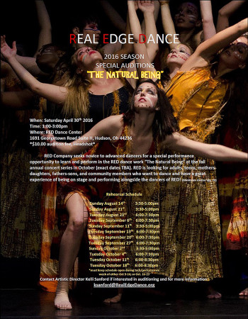 """SPECIAL AUDITIONS FOR DANCERS – """"THE NATURAL BEING"""" 2016 Season"""