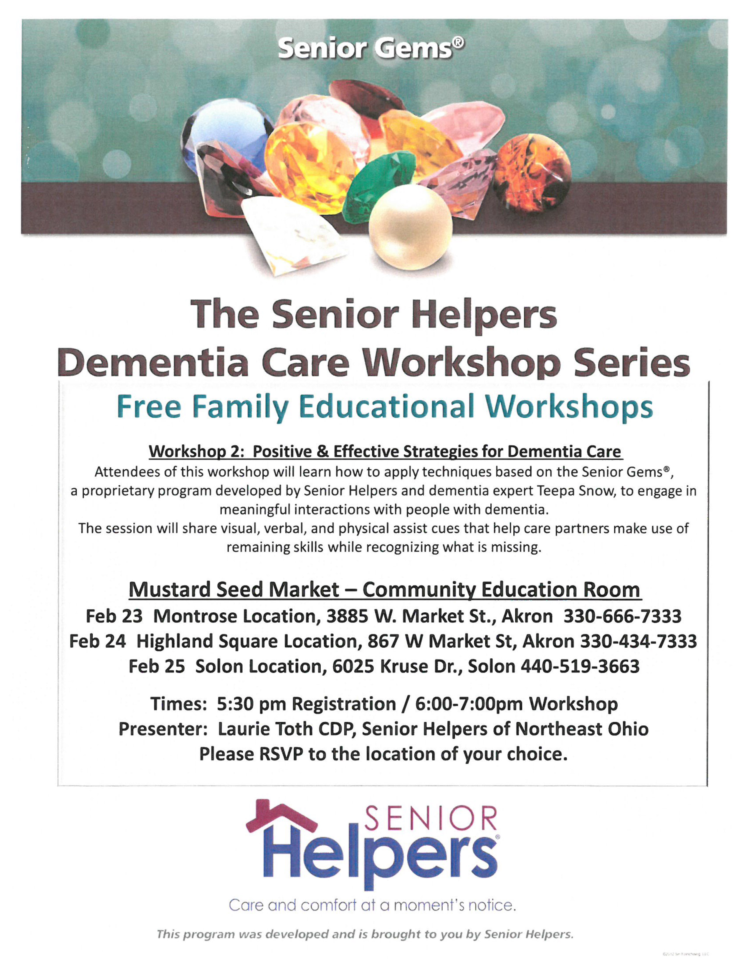 Positive and Effective Strategies for Dementia Care presented by