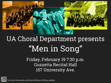 """UA Choral Department presents """"Men in Song"""""""