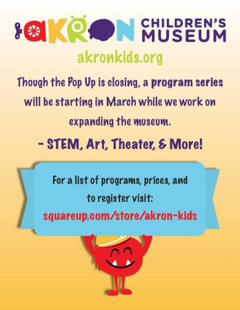 "Wandering Aesthetics Announces ""Theatre Games"" class at Akron Children's Museum"