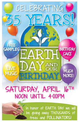 Earth Day Birthday Celebration!