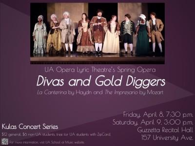 """UA Opera Lyric Theater """"Divas and Gold Diggers"""""""