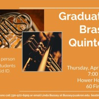 UA Graduate Brass Quintet at Hower House