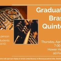 UA Graduate Brass Quintet at Hower House