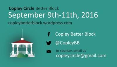 Copley Circle Better Block