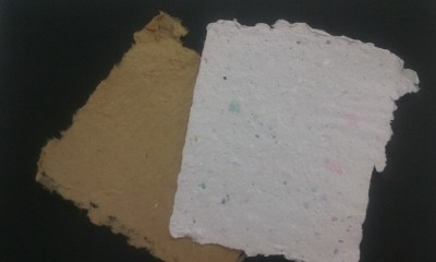 Outside Paper-making Demo!