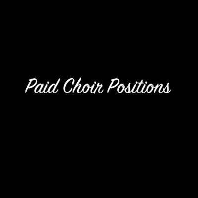 Paid Soprano and Tenor SYNAGOGUE CHOIR POSITIONS