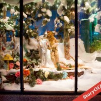 History of Christmas Window Displays: Downtown Akron