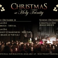 Christmas Services at Holy Trinity