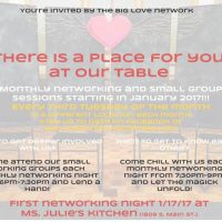 There Is A Place For You At Our Table: Big Love Monthly Meeting