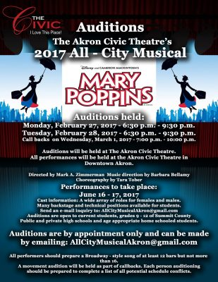 AUDITIONS: All City Musical - Mary Poppins