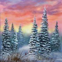 """Frosty Sunrise"" with Art Instructor George Erwin WBTT"