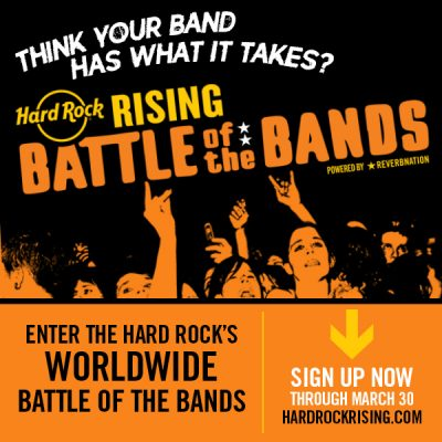 CALL FOR ARTISTS: Hard Rock Rising Battle of the Bands