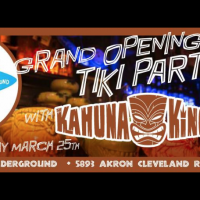 The epic grand opening party of the Tiki Underground