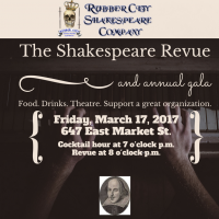 The Shakespeare Revue and annual gala by Rubber City Shakespeare Company