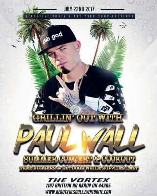 Paul Wall Cook Out And Concert Party Featuring Grillz On Wheelz