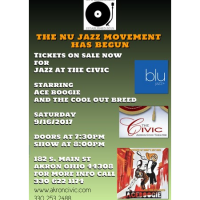 Jazz at the Civic presents The Nu Jazz Movement featuring Ace Boogie and the Cool Out Breed