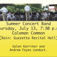 UA Summer Concert Band