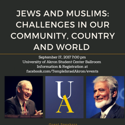 Jews & Muslims: Challenges in our Community, Country, and World