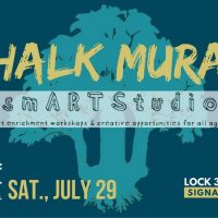 Chalk Mural with smARTStudio at Signal Tree Fest