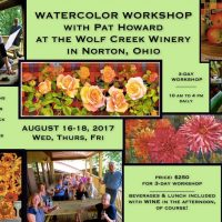 Watercolor Workshop at the Winery