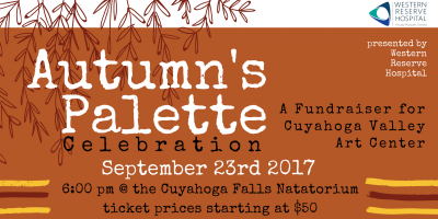 Autumn's Palette Celebration - Cuyahoga Valley Art Center Annual Fundraiser