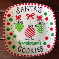 Santa Cookie Plate Paint Party!