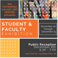 Cuyahoga Valley Art Center Student & Faculty Exhibition Reception