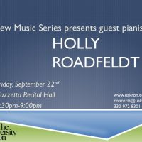 Guest Pianist Holly Roadfeldt