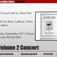 The Noble Snare -- Volume 2 Concert