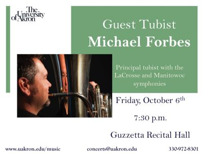 Guest Tubist Michael Forbes