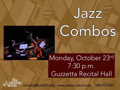 UA Jazz Combos to Perform
