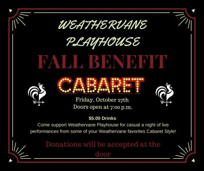 Weathervane Playhouse Presents A Fall Benefit Cabaret