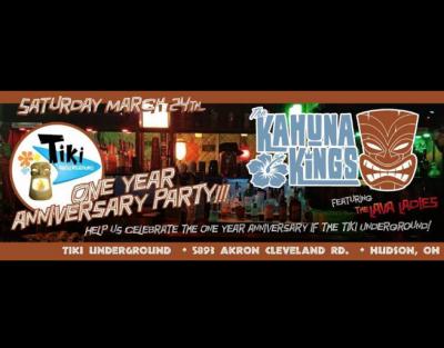Tiki Underground One Year Anniversary with the Kah...