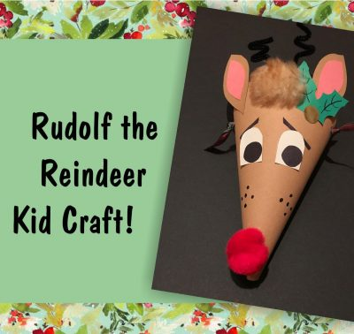 Rudolph the Reindeer Free Kid Craft Workshop