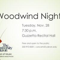 Woodwind Night
