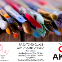 PAINTING CLASS WITH IPAINT AKRON at CAFE O'PLAY