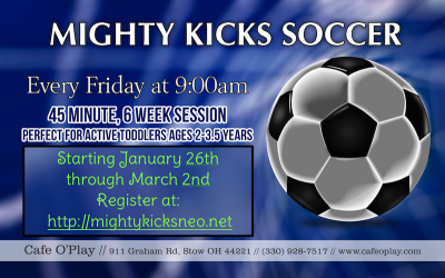 MIGHTY KICKS SOCCER CLASS at CAFE O'PLAY