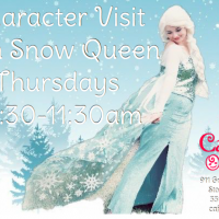 CHARACTER VISIT WITH SNOW QUEEN